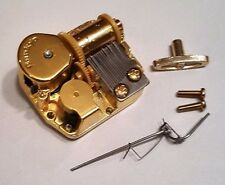 "Sankyo 18 Note Music Box Movement With Reuge Wire Stopper-""Sailing"""