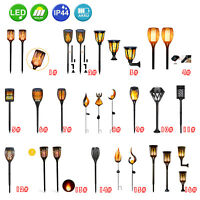 4 Pack Flame Solar Torch Light Waterproof Flickering Dancing Garden Lantern Lamp