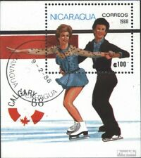 Nicaragua block176 (complete issue) used 1988 olympic. Winter G