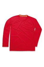 Magliette da uomo rossi manica lunghi poliestere