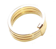 2016 Trending-Modern, Chic & Trendy-Stack of Three Gold Strand Hand Ring (Zx85)