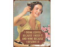 NEW Coffee - I Need it tin metal sign