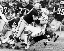 Green Bay Packers Leroy Caffrey, RAY NITSCHKE vs Lenny Moore 8x10 Photo Poster