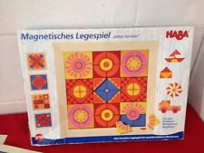 Haba Indian Summer #2298 Magnetic Pieces Tile Arranging Game Create Patterns
