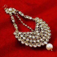 Indian Wedding Hijab Jhoomar Matha Patti Traditional Tikka Passa Kundan Jewelry