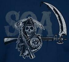 Sons of Anarchy Motorcycle T-Shirt Biker Chopper Reaper SOA AR-15 BLUE New Small