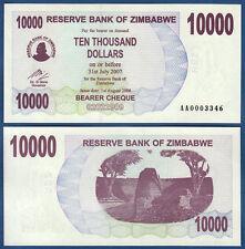 SIMBABWE / ZIMBABWE 10000 Dollars 2006  without Space UNC  P. 46 a