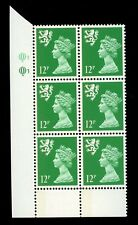 GB QE2 Machin Scotland 12p emerald left band Questa Q1Q1 cylinder UMNH **