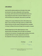 "TOM KRYSS ""LITTLE SAILBOAT"" SIGNED POEM BROADSIDE LTD EDITION OF 20 COPIES***"
