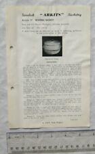 Vintage leaflet: Swedish Arkits Basketry - sewing basket, 37