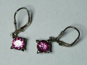 Ohrringe Silber 925 mit Pink Mystic Topas