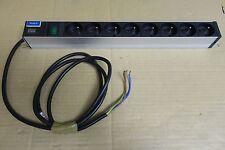 "Bandeau Bach Mann Alu 19"" 8x Euro Sockets 1U Power Distribution Unit PDU"