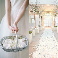 1000Pcs White Silk Flower Rose Petals Wedding Party Table Venue Decorations