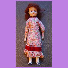 4af8a0ccd24d BAMBOLA DA COLLEZIONE PORCELLANA vestito tessuto artigianale capelli rossi