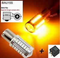 Bombillas intermitente, LED Canbus, BAU15S, PY21W + Relé para evitar Hyperflash