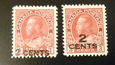 Canada stamp pair #s 139 - 140 mint OG hinged VF