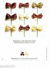 PUBLICITE ADVERTISING 116  1989  les vins de Bordeaux
