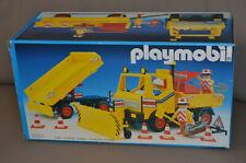 Playmobil 3454 Schneepflug / Baufahrzeug mit Schneeschieber Anhänger - mit OVP