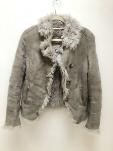 Joseph Grey Shearling Jacket