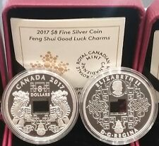 2017 Feng Shui Good Luck Charms PI YAO $8 Pure Silver Proof Square-Holed Coin.