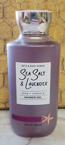 Bath and Body Works Sea Salt and Lavender Shower Gel Body Wash 10 oz sealed