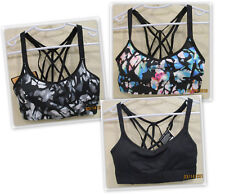 Champion women's Strappy Cami Sport athletic Bra removable pads Duo Dry Stretch