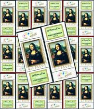 Mona Lisa = Hungary mnh LEONARDO da VINCI PAINTING x20 w/TABS $$ WHOLESALE $$