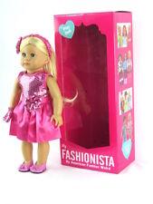 Emma GIrl Doll, Dressed 18'' doll  by American Fashion World New in BOX
