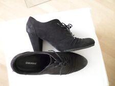 GRACELAND Schuhe Leder schwarz HIGHHEELS Schnür Pumps GRANNY STYLE GR: 41 UK 7