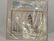 "1977 ColumbiaA-Minerva 18""x14"" Crewel Embroidery Kit  Lighhouse  7842  Unopened"