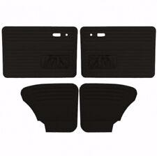 VW Door Panels, Full Set w/Pockets, Black Smooth Vinyl, Beetle/Super Sedan 67-77