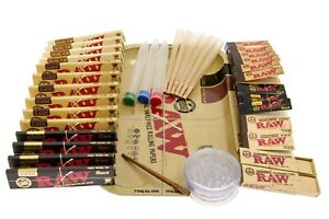 SMOKERS ROLLING TRAY RAW GIFT SET FILTERS KINGSIZE PAPERS CONE CLASSIC+More
