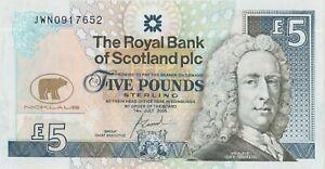 P365 COMMEMOTATIVE ROYAL BANK OF SCOTLAND £5 BANKNOTE IN PRESENTATION PACK.