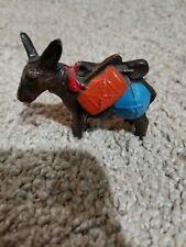 Vintage Small Brass Pack Mule Donkey Figurine