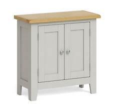 Elsdon Grey Painted Mini Cupboard / Modern Small Cabinet / Sideboard Storage