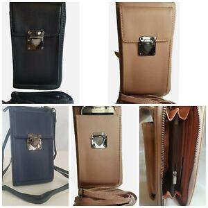 Umhängetasche mit Handyfach XL Portemonnaie Geldbörse Schultertasche Brieftasche