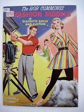"Vintage RARE 1958 ""Bob Cummings"" Paper Dolls w/ Fashion Models - Uncut *"