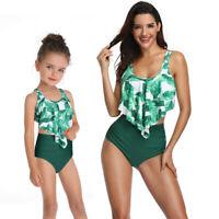 Family Matching Swimwear Mother Daughter Women Kids Baby Girls Bikini Swimsuit