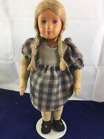 "Vintage Doll Composition European Farm Girl 1930's 16"""