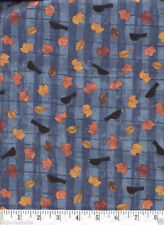 Autumn Crows Blue Quilt Fabric - 1 Yard