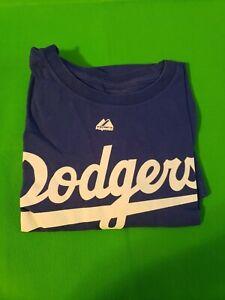Los Angeles Dodgers MLB Majestic Classic Blue Dodgers 2XL T-Shirt