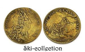 Token Louis XIV No - Extraordinaire Of Guerres. N.D. (1698) & Victor Fulmina