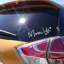 Mom Life Decal Vinyl Sticker Car Bumper DIY Wall Laptop Reflective Silver 7.5 in