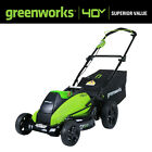 Push Lawn Mower Cordless Brushless Walk Behind Outdoor Home 40V 19in (Tool-Only)