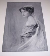 1911 LADY ROSS by Philip A Laszlo Print Young Lady/Girl in Dress