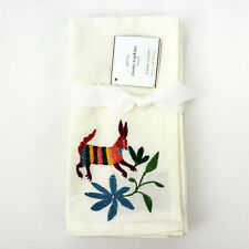 Pottery Barn Otomi Napkin Set of 4 Embroidered Stitched