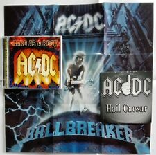 AC/DC - HARD AS A ROCK WITH POSTER 1995 + HAIL CAESAR 2 CD BALLBREAKER