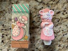 Vintage New Avon Millicent Mouse Finger Puppet Pink & Pretty Fragrance Demistick