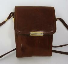 VINTAGE LA TOSCANA  BROWN LEATHER SATCHEL BAG SHOULDER BAG