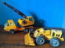 Vintage 1970s Tonka Trucks Lot 1099 Swivel Crane Front End Loader Pressed Steel